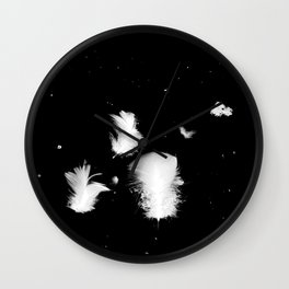 Goose feathers floating Wall Clock