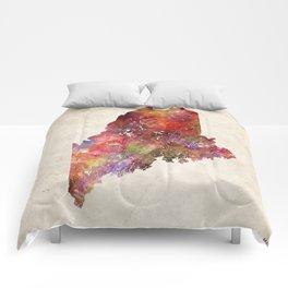 Maine map Comforters