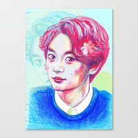 shinee Canvas Prints featuring SHINee Minho by sophillustration