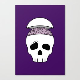 Brainy Skull Canvas Print