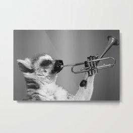 Musical Lemur Metal Print