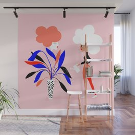 Women's plant - Supporting each other Wall Mural