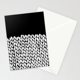 Half Knit  Black Stationery Cards