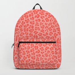 Leopard - Living Coral Backpack