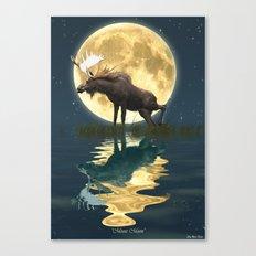 Moose & Moon Canvas Print