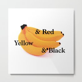 Banana Typography Metal Print