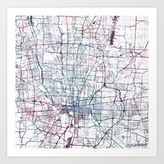 Columbus map Art Print