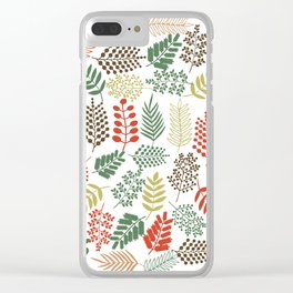 Colorful branches 1 Clear iPhone Case