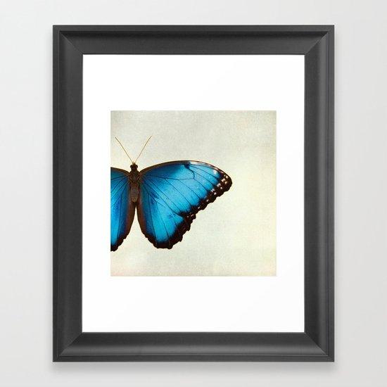 Morpho Framed Art Print