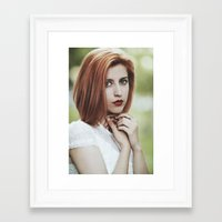 ginger Framed Art Prints featuring Ginger by Jovana Rikalo