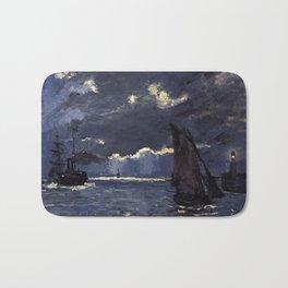 Claude Monet - A Seascape, Shipping by Moonlight Bath Mat