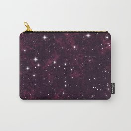 Burgundy Space Carry-All Pouch