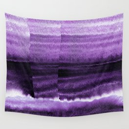 Violet Escape Watercolor Wall Tapestry