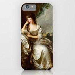 "Thomas Gainsborough ""Frances Browne, Mrs John Douglas at Waddesdon Manor"" iPhone Case"