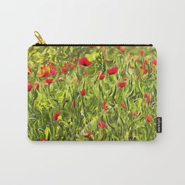 Surreal Hypnotic Poppies Carry-All Pouch