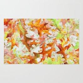 Colorful Oak Leaf Cluster - Inverted Art Rug