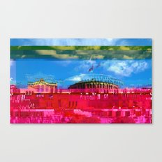Beautifully Glitched Oslo, Norway Canvas Print
