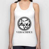 versace Tank Tops featuring Versace Parody - Versacrifice by hunnydoll
