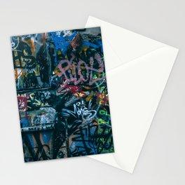 A graffiti wall in  Szeged, Hungary Stationery Cards