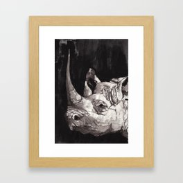 Rhino Portrait Framed Art Print