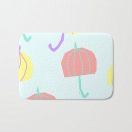 If We Are Together - colorful illustration pastel color umbrella pattern nursery Bath Mat