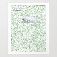 minimalism Art Prints featuring Minimalism by Katie Kephart