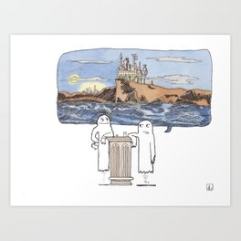 I Used to Haunt This Place... Art Print