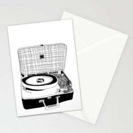 Record Player Stationery Cards