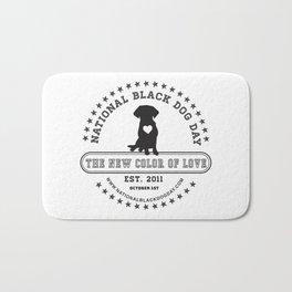 Black Dog Day Official Logo Bath Mat