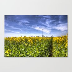 The Summer  English Field Canvas Print