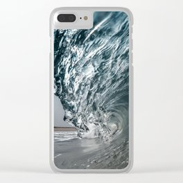 Silver Surf Clear iPhone Case