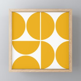Mid Century Modern Yellow Square Framed Mini Art Print