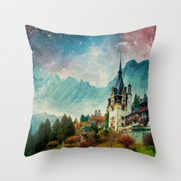 Faerytale Castle Throw Pillow