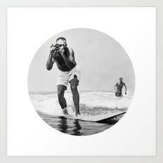The Surfing Photographer Art Print