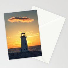 Lone Cloud Lighthouse Stationery Cards