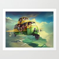 Indian Safari Art Print