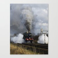 ashton irwin Canvas Prints featuring Rood Ashton Hall steam locomotive by PICSL8