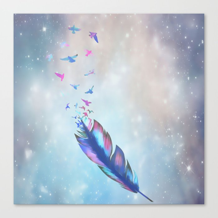 Feathered birds Canvas Print