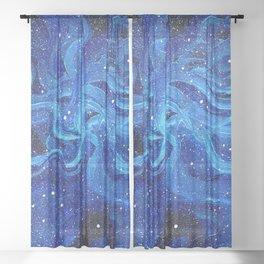 Galaxy Painting Acrylic Galaxy Art Sheer Curtain