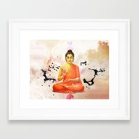 buddha Framed Art Prints featuring Buddha by O. Be