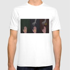 Lord of the Rings Minimalist Posters: Trilogy Mens Fitted Tee MEDIUM White