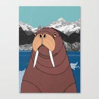 walrus Canvas Prints featuring Walrus by Diana Hope