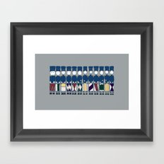Twelve Drummers Drumming Framed Art Print