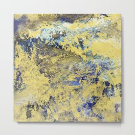 Blue & gold abstract painting no.170118 Metal Print