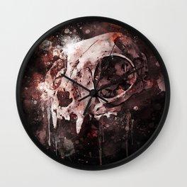 Tattoo cat skull watercolor painting | Original Design Wall Clock