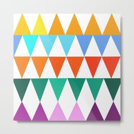 Triangles of Color Metal Print