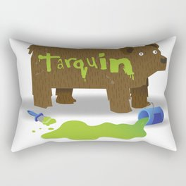 """Gotta stop painting those Bears""  Rectangular Pillow"