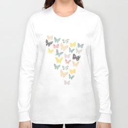 butterflies pattern Long Sleeve T-shirt