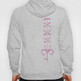 Laced Pink Ribbon on White Hoody