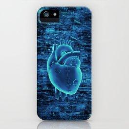 Gamer Heart BLUE TECH / 3D render of mechanical heart iPhone Case